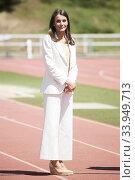 Купить «Queen Letizia of Spain visits High Performance Center (CAR) at Consejo Superior de Deportes Facilities on June 8, 2020 in Madrid, Spain», фото № 33949713, снято 8 июня 2020 г. (c) age Fotostock / Фотобанк Лори