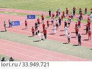 Купить «King Felipe VI of Spain, Queen Letizia of Spain visit High Performance Center (CAR) at Consejo Superior de Deportes Facilities on June 8, 2020 in Madrid, Spain», фото № 33949721, снято 8 июня 2020 г. (c) age Fotostock / Фотобанк Лори