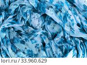 patterned crumpled fabric texture background. Стоковое фото, фотограф Nataliia Zhekova / Фотобанк Лори