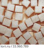 Refined sugar background texture. Стоковое фото, фотограф Nataliia Zhekova / Фотобанк Лори