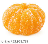 Whole of tangerine or mandarin citrus fruit isolated on white. Стоковое фото, фотограф Роман Самохин / Фотобанк Лори