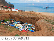 Landfill on Olkhon Island, Baikal Lake Baikal, Siberia, Russia. June. Стоковое фото, фотограф Olga Kamenskaya / Nature Picture Library / Фотобанк Лори