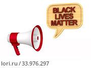 black lives matter on sky background. 3D illustration. Стоковая иллюстрация, иллюстратор Ильин Сергей / Фотобанк Лори