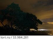 Купить «Torre Alfina, Italy, thunderstorm over the city at night», фото № 33984281, снято 6 августа 2016 г. (c) Caro Photoagency / Фотобанк Лори