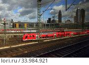 Купить «Frankfurt am Main, Germany, Main-Neckar-Ried-Express at the entrance to the main station», фото № 33984921, снято 1 марта 2020 г. (c) Caro Photoagency / Фотобанк Лори
