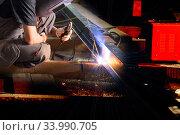 Welding work. Стоковое фото, фотограф Евгений Ткачёв / Фотобанк Лори