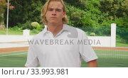 Купить «Tennis player rotating his racket», видеоролик № 33993981, снято 11 марта 2020 г. (c) Wavebreak Media / Фотобанк Лори