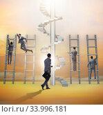 Купить «Competition concept with businessman beating competitors», фото № 33996181, снято 1 июля 2020 г. (c) Elnur / Фотобанк Лори