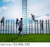 Купить «Competition concept with businessman beating competitors», фото № 33996193, снято 3 июля 2020 г. (c) Elnur / Фотобанк Лори
