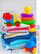 Купить «Baby clothes», фото № 33997565, снято 8 июля 2020 г. (c) age Fotostock / Фотобанк Лори