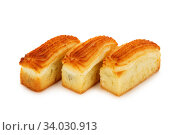 cookie with jam isolated on white background. Стоковое фото, фотограф Nataliia Zhekova / Фотобанк Лори