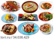 Купить «Set of lamb dishes isolated», фото № 34038429, снято 4 июля 2020 г. (c) Яков Филимонов / Фотобанк Лори
