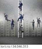 Купить «Competition concept with businessman beating competitors», фото № 34046313, снято 2 июля 2020 г. (c) Elnur / Фотобанк Лори