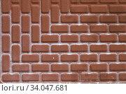 Купить «ceramic tile brick abstract mosaic background», фото № 34047681, снято 25 марта 2020 г. (c) Nataliia Zhekova / Фотобанк Лори