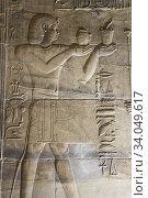 Купить «Relief of Pharaoh, Sanctuary, Temple of Isis, UNESCO World Heritage Site, Philae Island, Aswan, Egypt», фото № 34049617, снято 14 марта 2020 г. (c) age Fotostock / Фотобанк Лори
