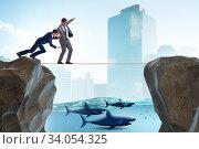 Купить «Concept of unethical business competition», фото № 34054325, снято 4 июля 2020 г. (c) Elnur / Фотобанк Лори