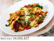 Купить «Tasty and nutritious breakfast», фото № 34056837, снято 10 июля 2020 г. (c) Яков Филимонов / Фотобанк Лори