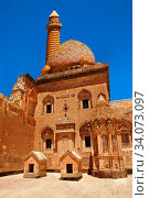 Courtyard of the 18th Century Ottoman architecture of the Ishak Pasha Palace (Turkish: Ä°shak PaŠŸa Sarayı) , AÄŸrı province of eastern Turkey. Стоковое фото, фотограф Funkystock / age Fotostock / Фотобанк Лори
