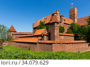 Купить «Malbork Castle, Poland», фото № 34079629, снято 13 мая 2018 г. (c) Яков Филимонов / Фотобанк Лори