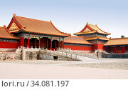 Verbotene Stadt in Peking, China | Forbidden City in Beijing, China. Стоковое фото, фотограф Zoonar.com/Rees Peter / easy Fotostock / Фотобанк Лори