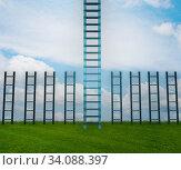 Купить «Different ladders in career progression concept», фото № 34088397, снято 4 июля 2020 г. (c) Elnur / Фотобанк Лори