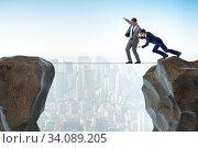 Купить «Concept of unethical business competition», фото № 34089205, снято 2 июля 2020 г. (c) Elnur / Фотобанк Лори