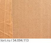 Купить «Brown corrugated cardboard texture useful as a background», фото № 34094113, снято 7 июля 2020 г. (c) easy Fotostock / Фотобанк Лори