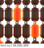 Купить «Propane gas cylinders isolated on white background. 3d illustration.», фото № 34095389, снято 14 июля 2020 г. (c) age Fotostock / Фотобанк Лори