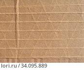Купить «Brown corrugated cardboard texture useful as a background», фото № 34095889, снято 6 июля 2020 г. (c) easy Fotostock / Фотобанк Лори