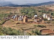 Populated in Highlands of the Merna and Betsileo ethnic groups, on the road to Fianarantsoa. (2018 год). Редакционное фото, фотограф Josep Blanch Busom / age Fotostock / Фотобанк Лори