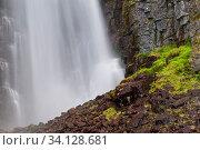 Njupeskaer, Schwedens hoechster Wasserfall, Fulufjaellet Nationalpark, Dalarna, Schweden, September 2010. Стоковое фото, фотограф Zoonar.com/GUNAR STREU / age Fotostock / Фотобанк Лори