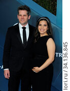 Ryan Piers Williams and America Ferrera at the 26th Annual Screen Actors Guild Awards held at the Shrine Auditorium in Los Angeles, USA on January 19, 2020. Стоковое фото, фотограф Zoonar.com/Lumeimages / age Fotostock / Фотобанк Лори