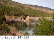 Купить «Church on the lake Pineiou in winter (Greece, Peloponnese)», фото № 34141689, снято 6 января 2017 г. (c) Татьяна Ляпи / Фотобанк Лори