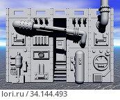 Metallische Fabrik Fassade. Стоковое фото, фотограф Zoonar.com/Dr. Norbert Lange / easy Fotostock / Фотобанк Лори
