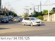 Такси Uber. Редакционное фото, фотограф Алексей Букреев / Фотобанк Лори