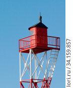 Der Kleine Elektrische Leuchtturm steht an der Süseite der Insel Borkum. Стоковое фото, фотограф Zoonar.com/Helga Mahler / easy Fotostock / Фотобанк Лори