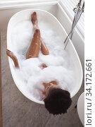 Купить «Woman relaxing in a bathtub», фото № 34172661, снято 17 октября 2019 г. (c) Wavebreak Media / Фотобанк Лори