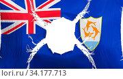 Купить «Anguilla flag with a hole, white background, 3d rendering», фото № 34177713, снято 12 июля 2020 г. (c) easy Fotostock / Фотобанк Лори