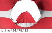Купить «Big hole in Latvia flag, white background, 3d rendering», фото № 34178113, снято 12 июля 2020 г. (c) easy Fotostock / Фотобанк Лори