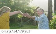 Купить «Senior couple dancing outdoors», видеоролик № 34179953, снято 28 ноября 2019 г. (c) Wavebreak Media / Фотобанк Лори