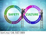 Businessman in safety culture concept. Стоковое фото, фотограф Elnur / Фотобанк Лори