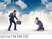 Businessman with gun threatening his competitor. Стоковое фото, фотограф Elnur / Фотобанк Лори