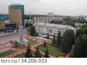 Балашиха вид на площадь Славы (2020 год). Редакционное фото, фотограф Дмитрий Неумоин / Фотобанк Лори
