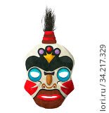 Watercolor tribal mask on white background. Стоковое фото, фотограф Zoonar.com/Richard Laschon / easy Fotostock / Фотобанк Лори
