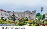 Garden of St.Barbara's at the walls of the former Archbishop's Palace, Braga, Portugal. Редакционное фото, фотограф Николай Коржов / Фотобанк Лори
