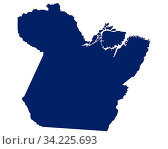 Karte von Para in blauer Farbe - Map of Para in blue colour. Стоковое фото, фотограф Zoonar.com/lantapix / easy Fotostock / Фотобанк Лори