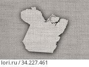 Karte von Para auf altem Leinen - Map of Para on old linen. Стоковое фото, фотограф Zoonar.com/lantapix / easy Fotostock / Фотобанк Лори