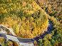 Купить «Scenic Mohawk Trail winding highway at autumn, Massachusetts, USA. Fall in New England. Aerial drone shot.», фото № 34228473, снято 15 июля 2020 г. (c) easy Fotostock / Фотобанк Лори