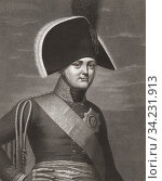 """Emperor Alexander I of Russia, 1777 â. """"1825, aka Alexander the Blessed. Emperor of Russia. After a 19th century print by Antoine-Achille Bourgeois de... Стоковое фото, фотограф Classic Vision / age Fotostock / Фотобанк Лори"""