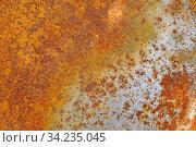 Rost, rostig, metall, verwitterung, schrott, orange, braun, hintergrund, muster, farbe, background, alt, marode. Стоковое фото, фотограф Zoonar.com/Volker Rauch / easy Fotostock / Фотобанк Лори